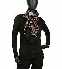 NEW WITH TAGS!!  Vera Bradley Soft Wool Scarf Zebra Brown Black Fringed