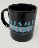 Vtg 1984 MIAMI VICE CLASSIC TV SHOW CUP COFFEE MUG 80s Black Aqua Pink RARE