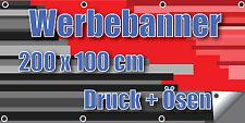 Werbebanner Banner Plane Werbeplane 510g 200 x 100 cm Druck + Ösen