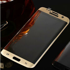 Front Full Cover Tempered Glass Screen Protector for Samsung Galaxy S7 edge Gold