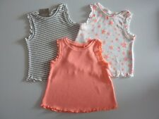 NEXT 3 Really Cute Little Girls Vest Tops NWT