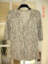 WHITE STUFF linen blend top/tunic size 10