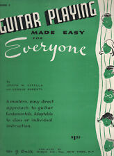 Guitar Playing Made Easy for Everyone with FREE DIGITAL COPY on CD