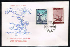 1IRAN SCOTT#1159-60 OLYMPIC SET ON FIRST DAY COVER