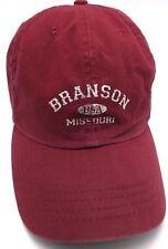 BRANSON, MISSOURI red adjustable cap / hat