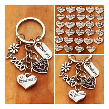 THANK YOU Bridesmaid,mother of bride, groom.... Wedding Gift keyring ( 02)