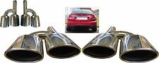 Quad Oval Chrome Exhaust Pipe Tips Muffler Tips For Mercedes Benz C63 AMG Saloon