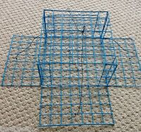 FOUR PACK! PVC Blue Homemade Four Door Crab Trap with bait holder