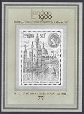 1980 GB LONDON 1980 STAMP EXHIBITION MINI SHEET FINE MINT MNH/MUH SGMS1190