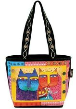 Laurel Burch Purse Tote Feline Family Cats Kitten Cotton Canvas NWT