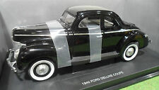 FORD DELUXE COUPE 1940 noire 1/18 UNIVERSAL HOBBIES voiture miniature collection