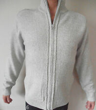 New M&S Winter White/Cream Zipped Cardigan Sz Small 36-38""