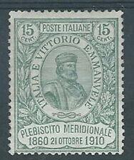 1910 REGNO GARIBALDI 15 CENT  MH * - RR2610