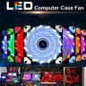 Quad 4-LED Light Neon Quite Clear 120mm PC CPU Computer Case Cooling Fan 12cm