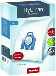 4x Sacchetti per Aspirapolvere Miele con 2 Filtri Miele GN HyClean 3D Efficiency