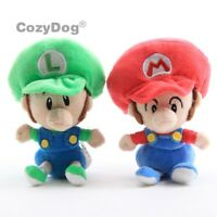 2X Super Mario Bros. Run Baby and Baby Luigi Plush Toys Cute Soft Doll Son HOT