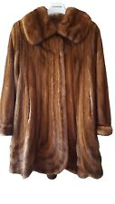 Women's Quality Swinger Real Mink Fur Coat Vintage Artisan Made in Italy sz M/L