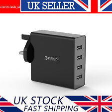 ORICO 4-port Multifunction USB Mains Charger UK Plug AC Travel Power Adapter