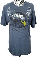 Harley-Davidson Womens Eagle Graphic Tshirt Size Medium Blue Ernies Algona Iowa