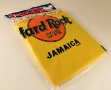 Vintage 1980s Hard Rock Cafe Jamaica Yellow & Orange T-Shirt - Sealed - Large