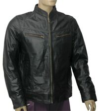 New Men's 100% Real Leather Motorbike/Motorcycle/Black color JACKET Size-L -9