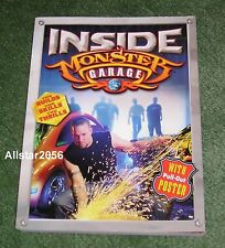 2003~JESSE JAMES~INSIDE MONSTER GARAGE BOOK~SOFT COVER~ WITH POSTER~NEW~UNREAD