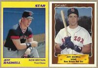 1990 JEFF BAGWELL 2 Card Lot - Star Card #30, ProCards #1324