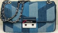NEW MICHAEL KORS PATCHWORK DENIM Sloan LARGE Handbag Crossbody Shoulder Bag