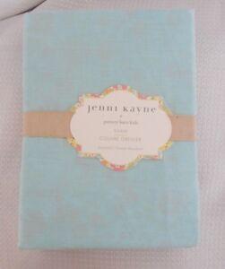 Pottery Barn Kids Jenni Kayne Reversible Standard Pillow Sham Floral Aqua NWT
