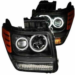 Anzo For 07-12 Dodge Nitro Projector Headlights Black G2 Halos - 111145