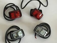 LED MARKER LAMPS 4 x  12v 24v FRONT REAR POSITION COMPACT SURFACE MOUNT MARINE