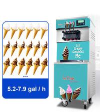 3 Flavor Soft Serve Ice Cream Machine Comercial Air Cooled Ice Cream Cone Freeze