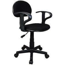 NEW Student Office Desk Furniture HomeTask Chair with Arms, Black