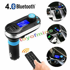 BT66 Bluetooth Car Kit MP3 Player FM Transmitter SD LCD Dual USB Charger Silver