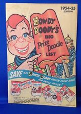 1954-1955 Howdy Doody's BigPrize Doodle List - RARE