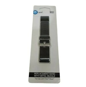 ONN Fitbit Blaze Black/Metal Buckle Replacement Band  Adjustable  New