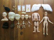 """New ListingLot Porcelain Bisque """"Meg"""" Doll & Doll Making Parts Shoulder Head Strung Body"""