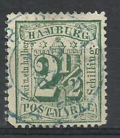 GERMANY HAMBOURG YV#03 PERF. 12 USED VF