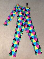Girls competition dance leotard, acro style, harlequin colours, size 1