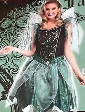 Stunning Deluxe Emerald Fairy ladies halloween costume size 14-16