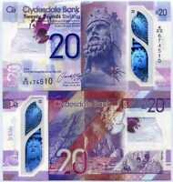 SCOTLAND 20 POUNDS 2019 / 2020 CLYDESDALE BANK POLYMER P NEW UNC
