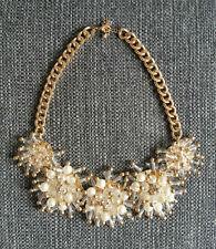 H&M ❤ Statement Kette Collier Perlen Necklace gold weiß Blogger Trend Boho TOP