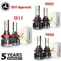 H1 H4 H7 H11 9005 9006 CSP LED Headlight Bulb Kit 1200W 55000LM Hi-Lo Beam 6000K