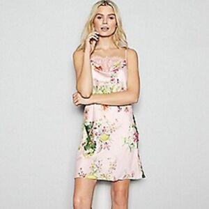 Jenny Packham Print pink Chemise Size UK8 rrp £40