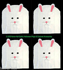 SET-4-White Felt EASTER BUNNY RABBIT CHAIR COVER Spring Holiday Party Decoration