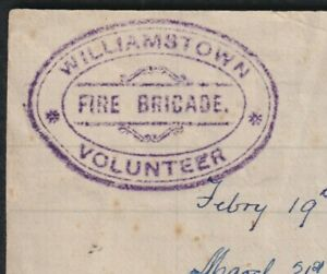 Williamstown Volunteer Fire Brigade List of Fires attended 1884-1886