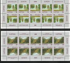 Latvia Sc 484-5 1999 Europa Parks stamp sheets mint NH Free Shipping