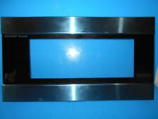 *SHARP FCOV-B216MRKO MICROWAVE DOOR FRAME STAINLESS STEEL & BLACK