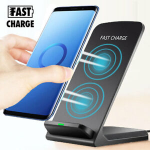 For Samsung S10 Plus S21/iPhone 12 Qi Wireless Fast Quick Charger Stand Dock Pad