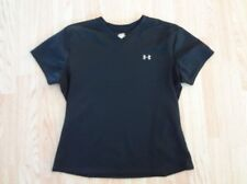 Women's S Under Armour Shirt Top Short Sleeve Black Exercise Workout Athletic